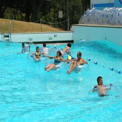 Swimmers at Wave Pool