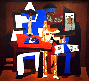 Picasso shapes painting